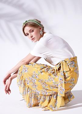 [5%할인/MORANYIF]Floral maxi wrap skirt