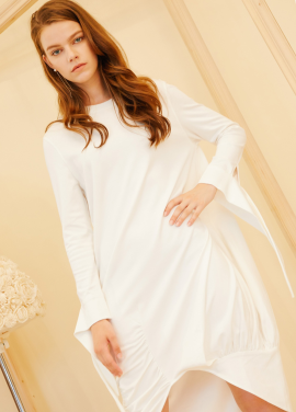 [단독10%할인/AHINEDITION] UNBALANCE LONG SOFT DRESS