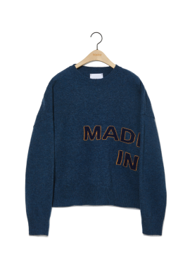 [newkidz nohant] MADE IN SEOUL KNIT SWEATER BLUE