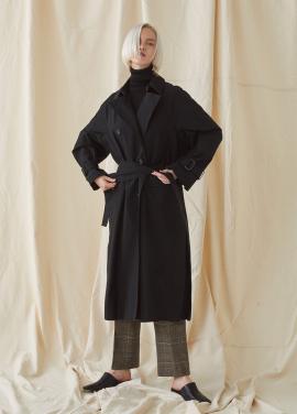 [MILLOGREM/10%할인] Blank Trench Coat - black