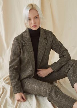 [SET MILLOGREM/10%할인/10%할인] Check Suit - Brown