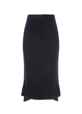 Slim Line Midi Knit Skirt