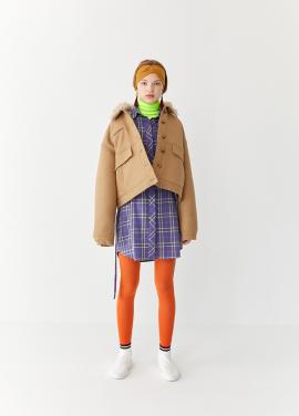 [5%할인/TEETH OFFICE] TEETHOFFICE Oatmeal Fur Jacket