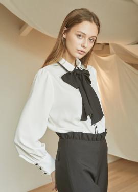 [걸스데이 혜리 착용★5%할인/JUST IN STYLE] Ribbon blouse_IVORY