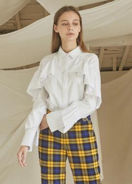 [5%할인/JUST IN STYLE] Frill lady shirts_WHITE