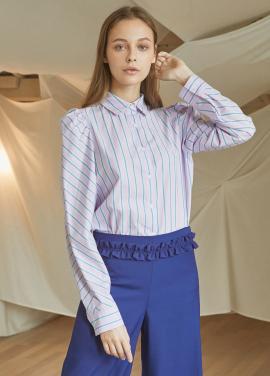 [5%할인/JUST IN STYLE] Stripe puff shirts_PINK