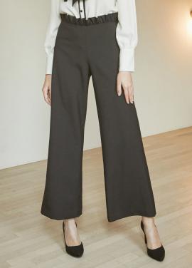 [5%할인/JUST IN STYLE] Flower waist pants_BLACK