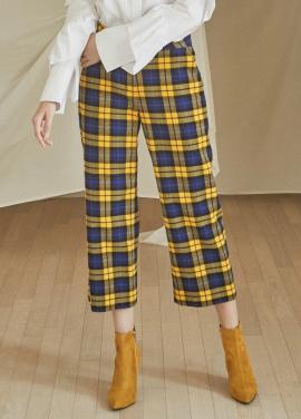 [5%할인/JUST IN STYLE] Tartan check pants_YELLOW