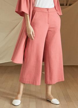 [5%할인/JUST IN STYLE] Shirring pocket wool pants_PINK