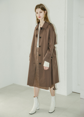 [5%할인/MOONEED] RAGLAN SLEEVES TRENCH COAT - BROWN
