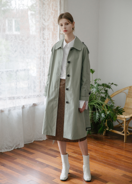 [5%할인/MOONEED] RAGLAN SLEEVES TRENCH COAT - KHAKI