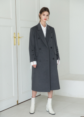 [5%할인/MOONEED] CASHMERE WOOL MAXI COAT - GRAY