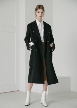 [5%할인/MOONEED] CASHMERE WOOL MAXI COAT- BLACK