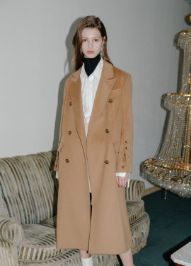 [5%할인/MOONEED] CASHMERE WOOL MAXI COAT - CAMEL