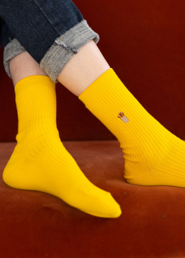 [IHATEMONDAY/10%] Rip Embroidery Point Yellow