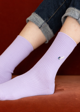 [IHATEMONDAY/10%] Rip Embroidery Point Lavender