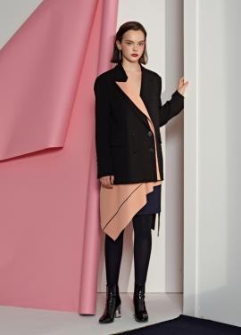 [5%할인/Le yiel] Overlap Panel Peaked Lapel Jacket