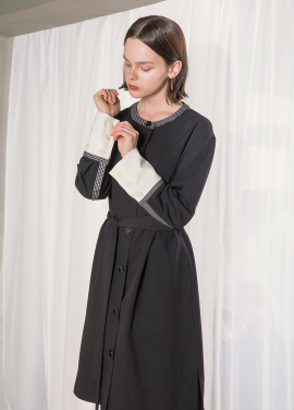 [NU PARCC] Color Line Dress - BK