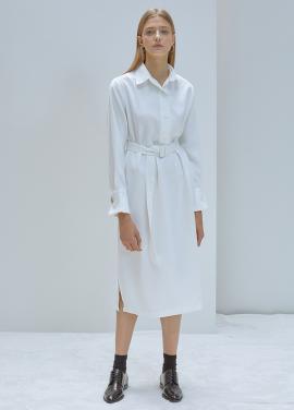 [5%할인/ANEDIT]F POLO COLLAR DRESS_WH