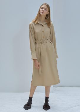 [5%할인/ANEDIT]F POLO COLLAR DRESS_BE