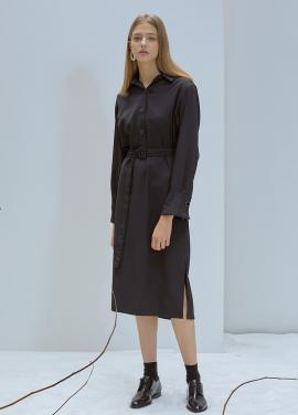 [5%할인/ANEDIT]F POLO COLLAR DRESS_BK