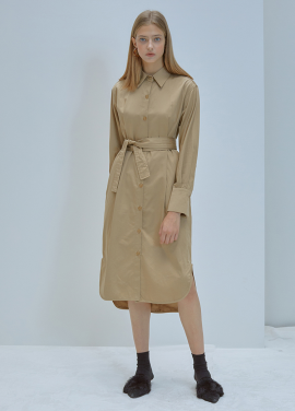 [5%할인/ANEDIT]F TUCK SHIRT DRESS_BE