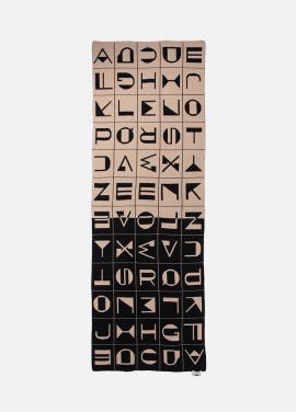 [EENK] KEPLER Alphabet Pattern Knit Blacket