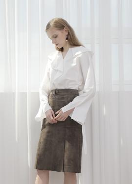 ◆ Suede Slit Skirt[주문폭주]