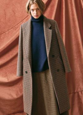 [20%할인/THE SUIN] CHECK DOUBLE LONG COAT