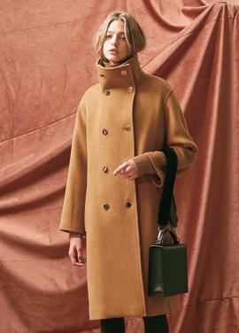 [20%할인/THE SUIN] HIGH NECK OVERSIZED DOUBLE COAT. CAMEL
