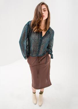 [단독10%/SURREAL BUT NICE] String Skirt Brown