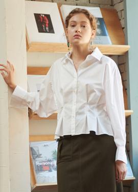 [YouNess] Vera Shape Shirt_WH
