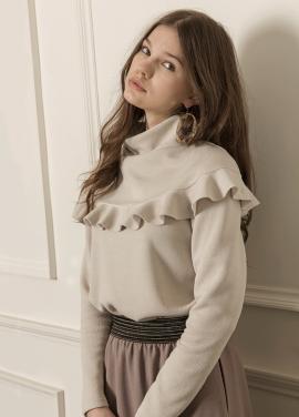 [5%할인/CAHIERS] Removable cape collar sweater