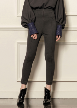 [5%할인/CAHIERS] High-rise slim-leg pants