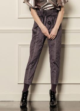 [5%할인/CAHIERS] Corduroy belted stretch pants