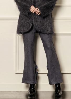 [5%할인/CAHIERS] Ruffled crepe slim-leg pants