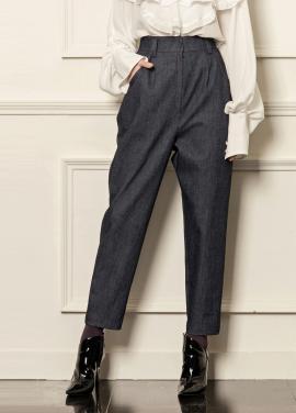 [5%할인/CAHIERS] Loops high waist denim pants