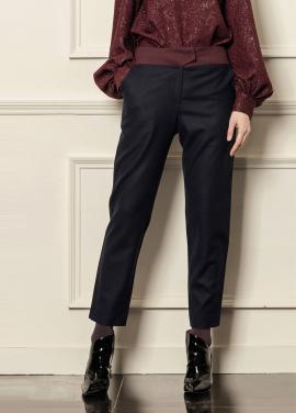 [5%할인/CAHIERS] Color block slim-leg pants