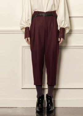 [5%할인/CAHIERS] Color block wool pants