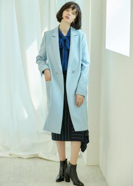 [5%할인/CLUE DE CLARE] pocket wool coat Blue