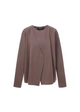 Sleeveless & Cardigan Knit Set