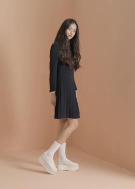 ◈Double Button Pleats Dress