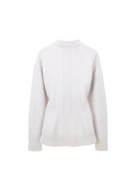 ◈Waist Line Wool Cashmere Blended Pullover
