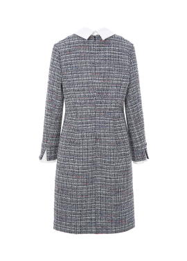 ◈Two-way Collar Tweed Dress