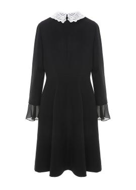 ◈Lace Collar Button Dress