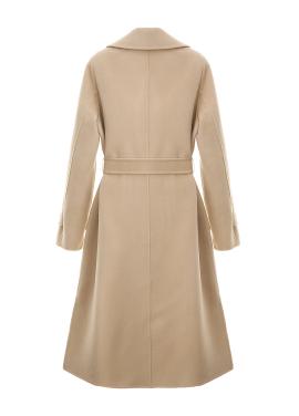 ◆Wool Blended Robe Hand Made Coat