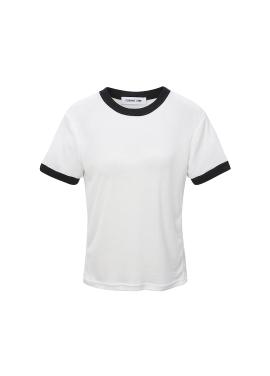베이직 배색 티셔츠