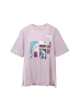 마라케시 아트 꼴라쥬 티셔츠