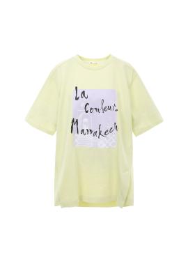 마라케시 레터링 트임 티셔츠