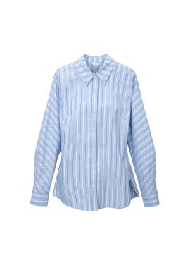 컬러핀 스트라이프 슬림 셔츠